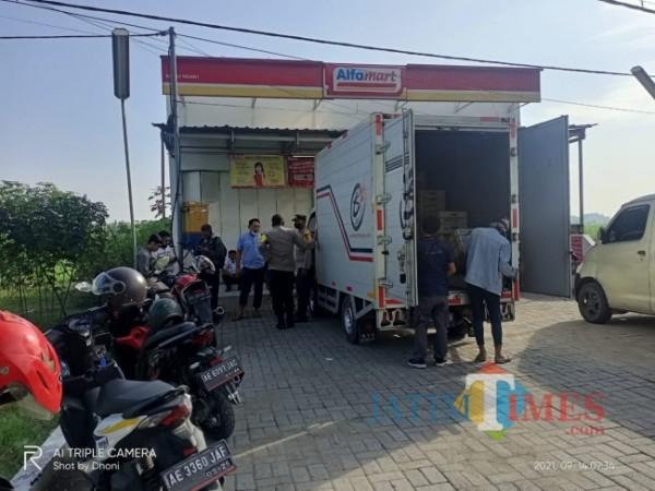 Alfamart jalan raya ngawi-solo, dusun Kalang desa ngale, kecamatan paron. foto satria romadhoni for jatimTIMES