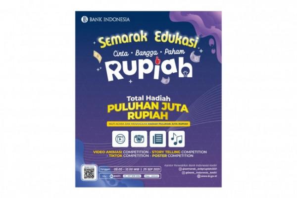 Flyer lomba Semarak Edukasi Cinta, Bangga, Paham Rupiah. Foto (Dok KPw BI Kediri)