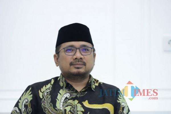 Menteri Agama (Menag) Yaqut Cholil Qoumas atau Gus Yaqut (14/09/2021) (Foto: Humas Kemenag for Jatim TIMES)