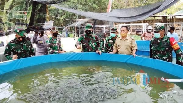 Penilaian Lomba Binter TNI-AD tahun 2021 Di Makodim Tuban (14/09/2021) (Foto Ahmad Istihar/Jatim TIMES)