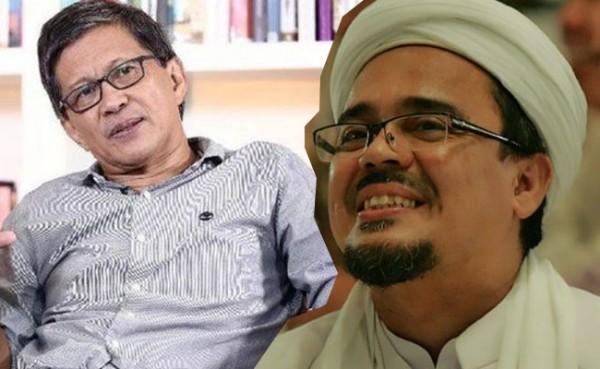 Rocky Gerung dan Habib Rizieq (Foto: IST)