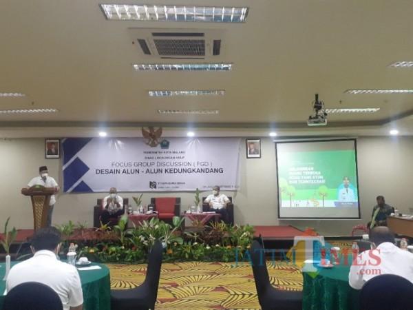 Suasana FGD Desain Alun-Alun Kedungkandang yang digelar Dinas Lingkungan Hidup (DLH) Kota Malang, Rabu (15/9/2021). (Arifina Cahyanti Firdausi/MalangTIMES).