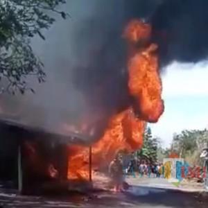 Pom Mini di Bangkalan Hangus Terbakar, Satu Orang Mengalami Luka