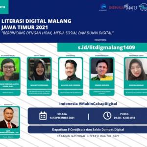 Literasi Digital Malang Jawa Timur 2021, Kupas Tuntas Perubahan Kultur Bersosialisasi