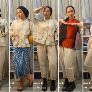 Styling One Set Outfit untuk Tampil Lebih Modis dan On Point ala Hijabers, Bisa Ditiru Nih!