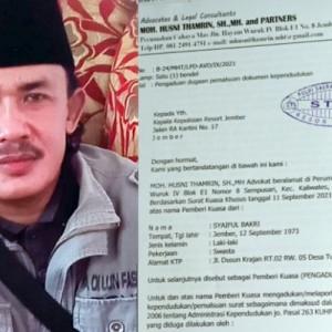 Diduga Palsukan Adminduk, Cakades di Jember Diadukan ke Mapolres
