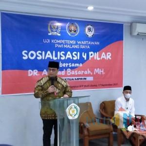 Sosialisasi 4 Pilar di UKW PWI Malang Raya, Wakil Ketua MPR RI Sampaikan 4 Poin Ini