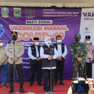 Gubernur Jawa Timur Dorong Kabupaten Malang Tingkatkan Jumlah Sasaran Vaksinasi