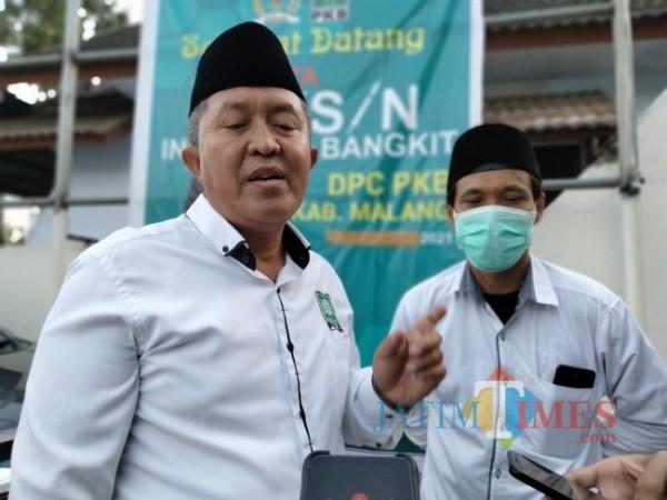 Ketua DPC PKB Kabupaten Malang M. Kholik bersama Anggota Fraksi PKB DPRD Kabupaten Malang Kuncoro.(Foto:Riski Wijaya/MalangTIMES).