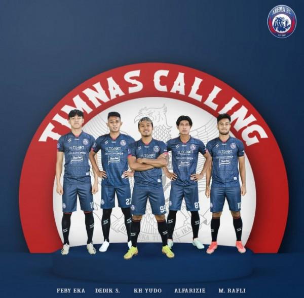 Lima pemain Arema FC yang dipanggil Timnas Indonesia. (official Arema FC)