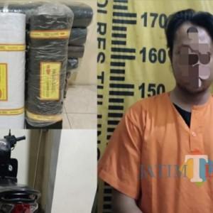 Pria Trenggalek Ditangkap setelah Curi Kain di Toko Majikan di Tulungagung
