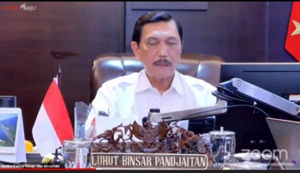 Menteri Koordinator Bidang Kemaritiman dan Investasi (Menko Marves), Luhut Binsar Panjaitan. (Foto: Youtube).