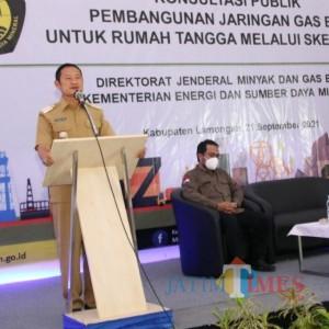 10 Ribu Sambungan Rumah Jaringan Gas  Bumi Terpasang di Lamongan