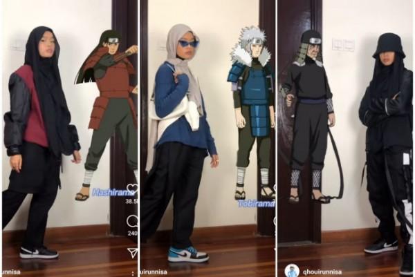 Outfit anti mainstrem ala tokoh Naruto. (Foto: qhouirunnisa).