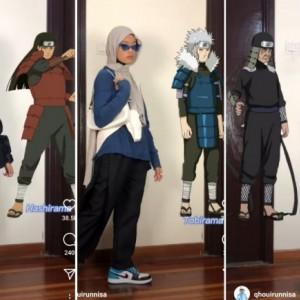 Inspirasi Outfit ala Tokoh Naruto, Anti Mainstrem Abis Nih Buat Hijabers