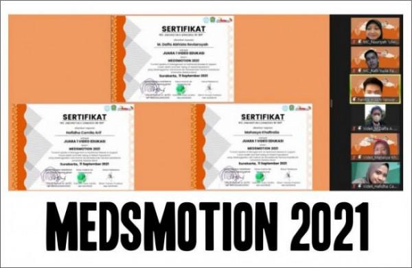 3 mahasiswa PSPD FKIK UIN Malang yang mendapat juara 1 di Medsmotion (Ist)