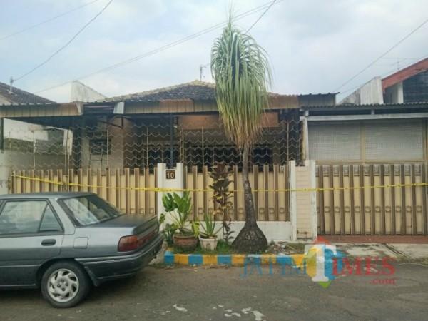 Lokasi rumah korban atas nama Ratna Darumi di Jalan Emprit Mas Nomor 10, Kelurahan Sukun, Kecamatan Sukun, Kota Malang. (Foto: Tubagus Achmad/JatimTIMES)