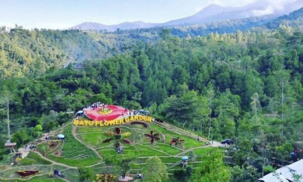 Salah satu tempat wisata swafoto di Desa Oro-Oro Ombo, Kecamatan Batu. (Foto: Batu Flower Garden)