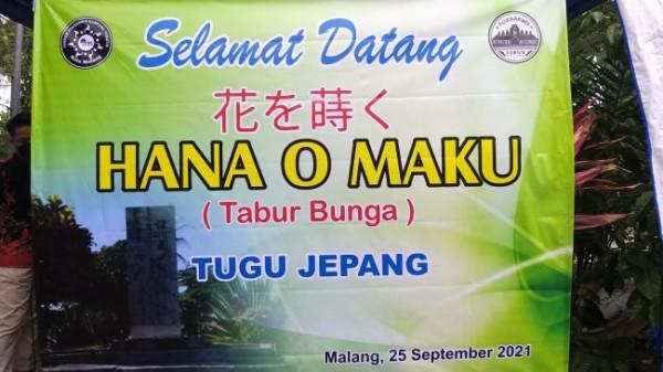 Banner kegiatan Hana O Maku yang digelar di TPU Nasrani Sukun. (Ist)