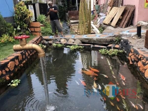 Salah satu sungai tematik terdapat ikan koi di Desa Sidomulyo.