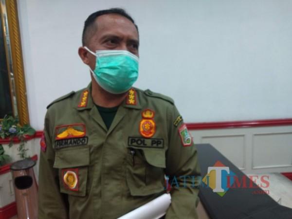 Sekretaris Satpol PP Kabupaten Malang, Firmando H. Matondang. (Foto: Riski Wijaya/ MalangTIMES).