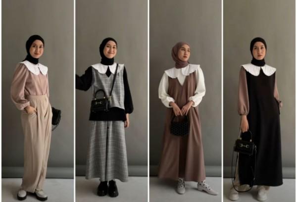 Padu padan blouse ala Korea yang simpel tapi buat tampil lebih stylish. (Foto: Instagram @inasrana).