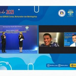 Wali Kota Kediri Sampaikan Tips untuk Anak Muda Berbisnis dalam Dinus Inside 2021
