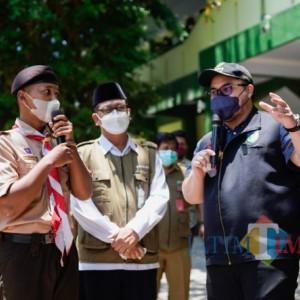 Kunjungi Vaksinasi Massal di MAN 1 Kediri, Ini yang Disampaikan Mas Bup