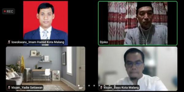 Webinar virtual DPD PKS Kota Malang. (Foto: Istimewa).