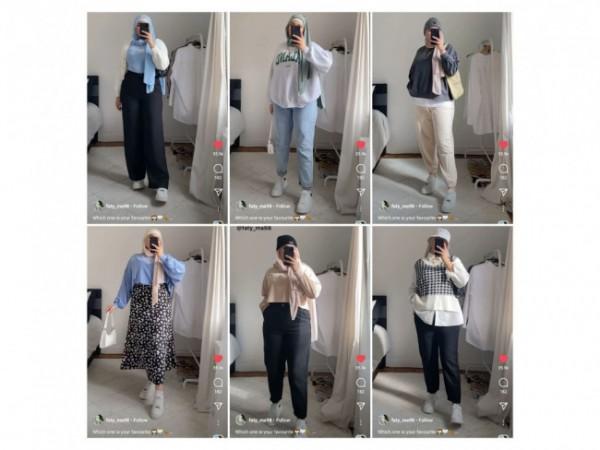 Inspirasi casual outfit si pemilik pinggul besar. (Foto: Instagram @faty_ma98).