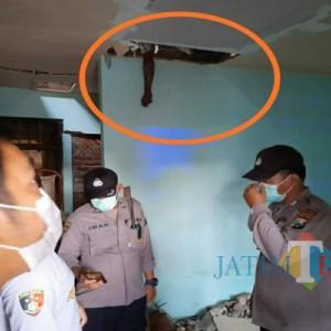 Geger Warga Perum Bangau Putih Tulungagung, Temukan Pekerja Tewas di Atas Plafon Rumah