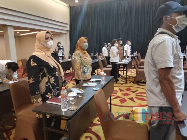 Peserta kegiatan sosialisasi di Bidang Cukai.(Foto: Riski Wijaya/MalangTIMES)