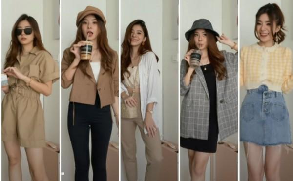 Inspirasi outfit ala minuman coffee shop. (Foto: Instagram @elikaboen).