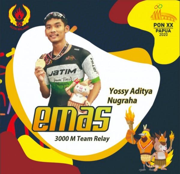 Ucapan kepada Yossy Aditya Nugraha setelah mendapatkan medali emas (foto: istimewa)