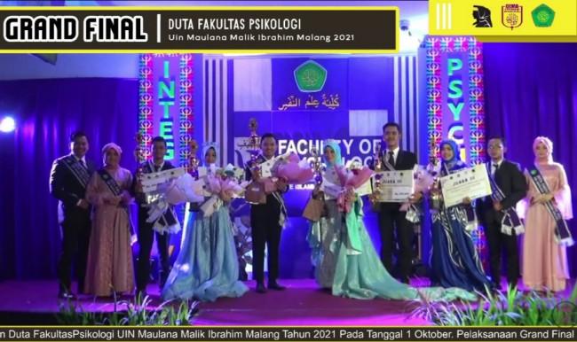 Deretan finalis Pemilihan Duta Fakultas Psikologi UIN Maliki Malang.