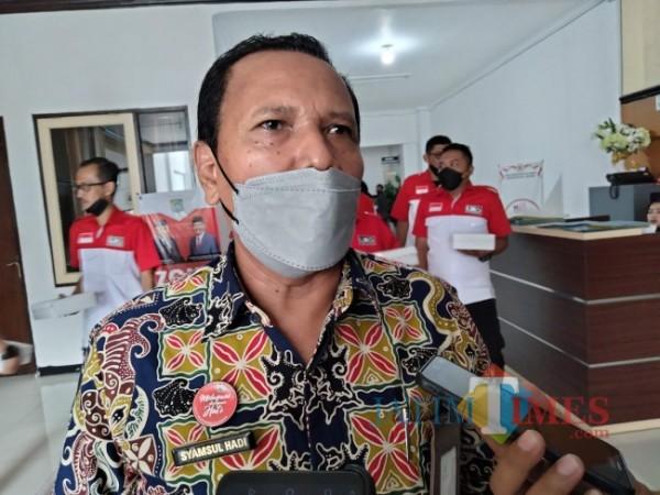 Dirut Perumda Tirta Kanjuruhan, Syamsul Hadi.(Riski Wijaya/MalangTIMES).