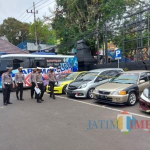 Satlantas Polresta Malang Razia Balap Liar, Tahan 65 Kendaraan Bermotor