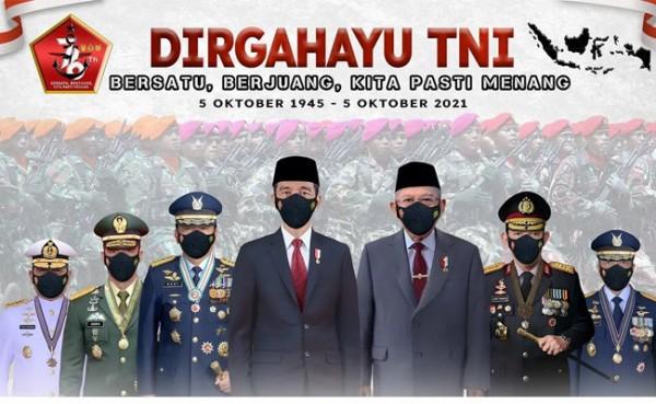 HUT Ke-76 TNI. (Foto: SMOL.ID)