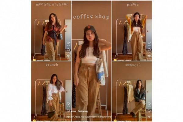 Inspirasi padu padan curduroy pants untuk harian. (Foto: Instagram @theauctus).