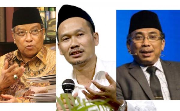 Calon Ketum PBNU Said Aqil, Gus Baha dan Yahya Staquf (Foto: IST)