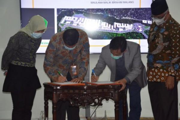 Suasana saat penandatanganan MoU UIN Maliki Malang dengan PT Pos Indonesia (Ist)