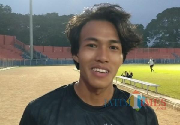 Yudha Febrian, pemain baru Persik Kediri. (eko arif s/Jatimtimes)
