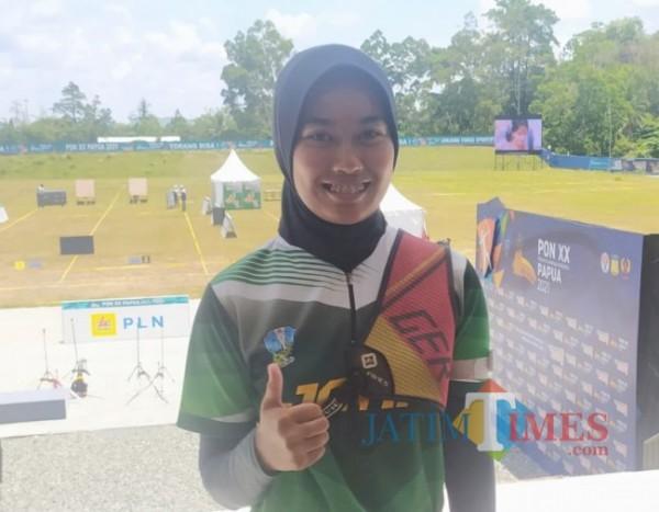 Atlet panahan asal Kabupaten Malang, Bunga Arbella.(foto: istimewa).