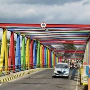 Pesona Warna Warni Jembatan Kali Lanang, Terpanjang di Kota Batu