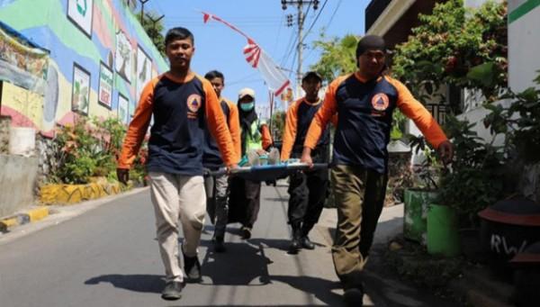 Keluahan Temas saat mengikuti lomba Desa/kelurahan Tangguh Bencana (Destana) tahun 2021. (Foto: istimewa)