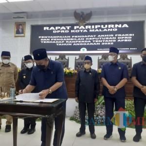DPRD Kota Malang Sepakati APBD 2022, BTT Naik 5 Persen