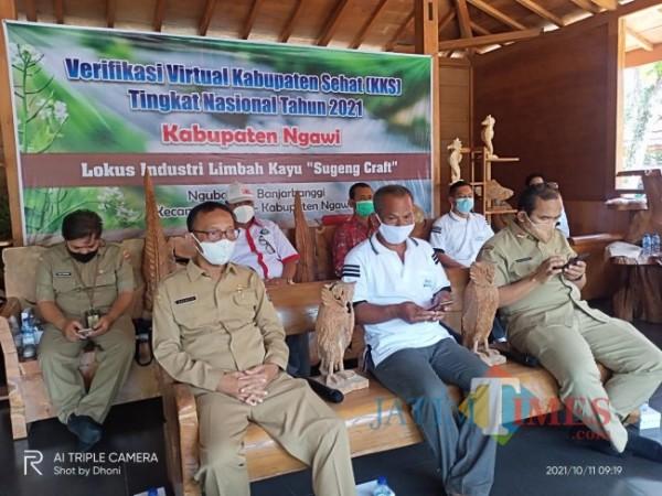 Verifikasi virtual Kabupaten Sehat. (Foto Satria Romadhoni/JatimTIMES)
