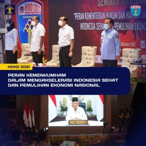 Peringati Hari Dharma Karya Dhika, Kemenkumham Dukung Akselerasi Indonesia Sehat dan PEN
