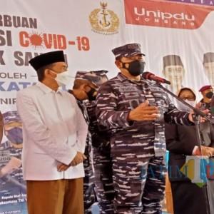 2.000 Dosis Disiapkan TNI AL untuk Serbuan Vaksinasi di Ponpes Darul Ulum Jombang