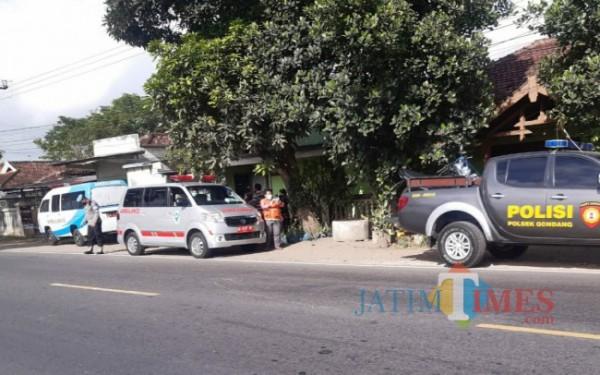 Lokasi kejadian kecelakaan di Jalan Raya masuk desa Notorejo, Gondang / Foto : Dokpol / Tulungagung TIMES